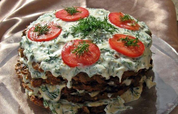 рецепт торт из баклажан