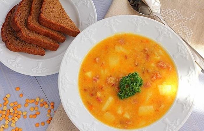 Калорийность супа горохового с ребрами