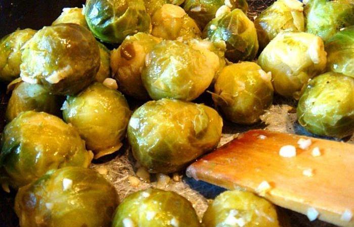 как жарить брюссельскую капусту на сковороде