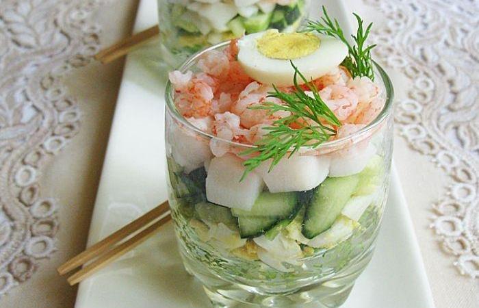 Рецепт салата в стакане с фото