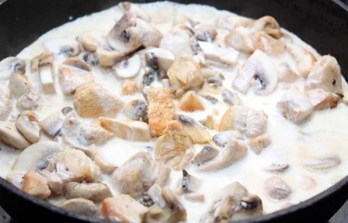 Грибы с курицей в сливочном соусе рецепт