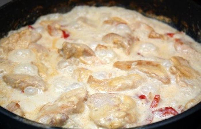 Куриная грудка в духовке со сливкамиы с фото