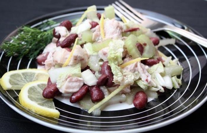 салат с красной фасолью и курой пошаговый рецепт