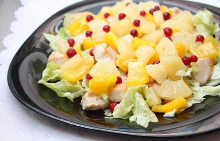 салат ананасов фото