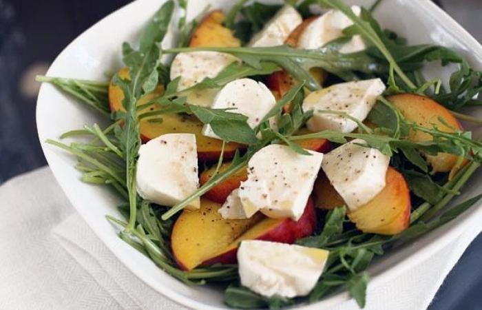 Салат с персиком рецепт с
