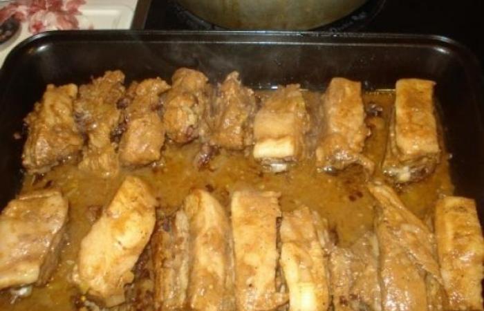рецепт маринованных ребрышек в духовке