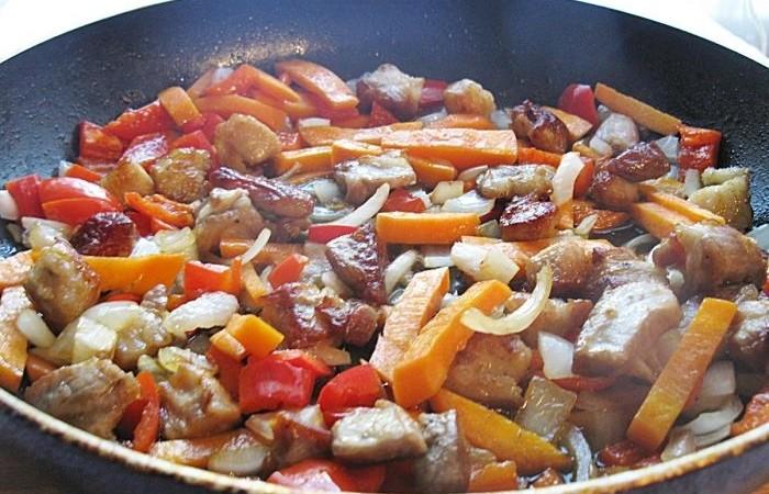 ризотто с овощами и грибами рецепт с фото в