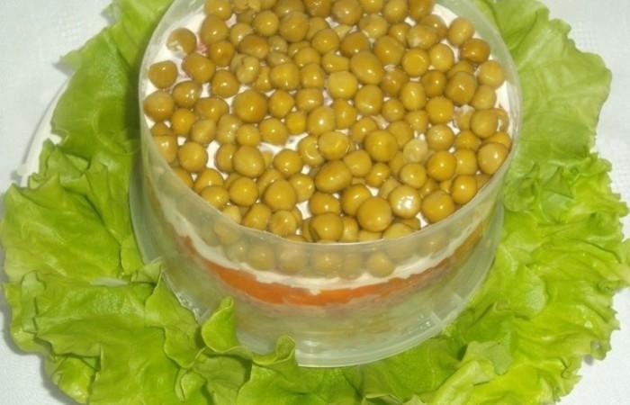 Салат с горошком консервированной