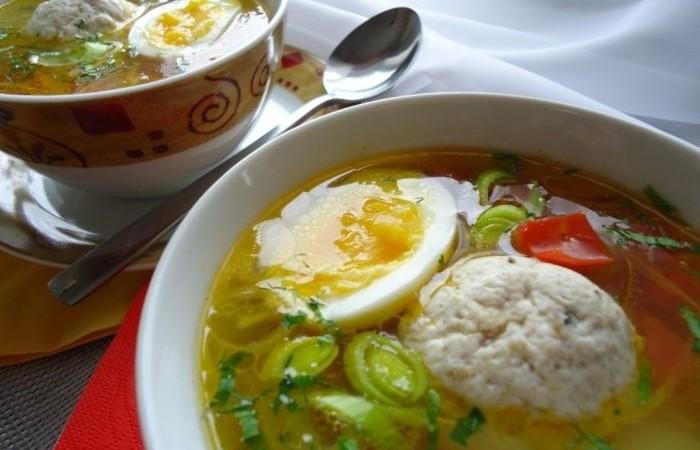суп с куриными фрикадельками пошаговый рецепт