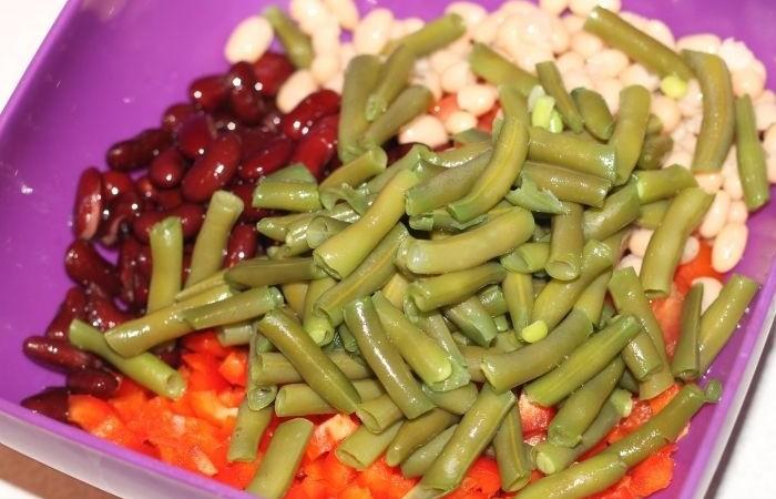 салат стручковая фасоль фото