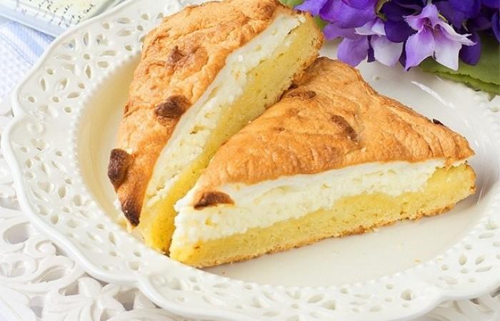 простой рецепт пирога с творогом в духовке рецепт