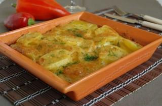 Запеченный картофель в сливках