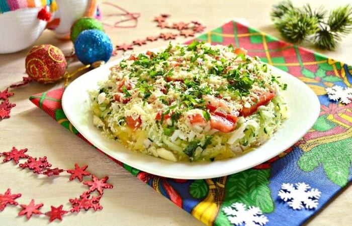 Салат новогодний рецепт с фото без майонеза