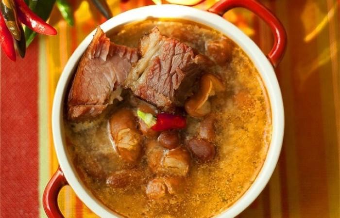 Суп из фасоли рецепт с копчеными ребрышками