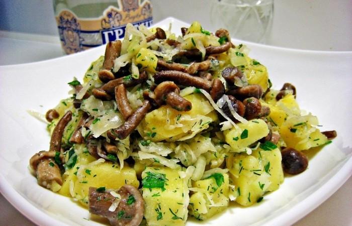 салат с фото с грибами