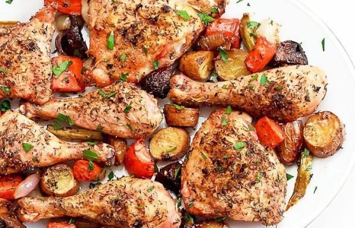 Рецепт из курицы запеченой