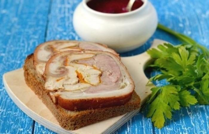 пошаговы рецепт рульки свинной