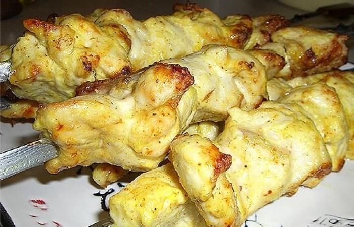 Шашлык из курицы на минералке с лимоном рецепт с пошагово