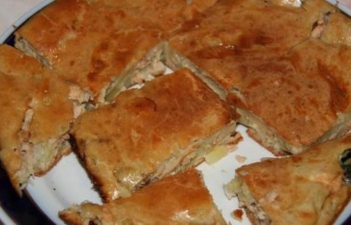 Пирог на кефире с рыбой рецепт с