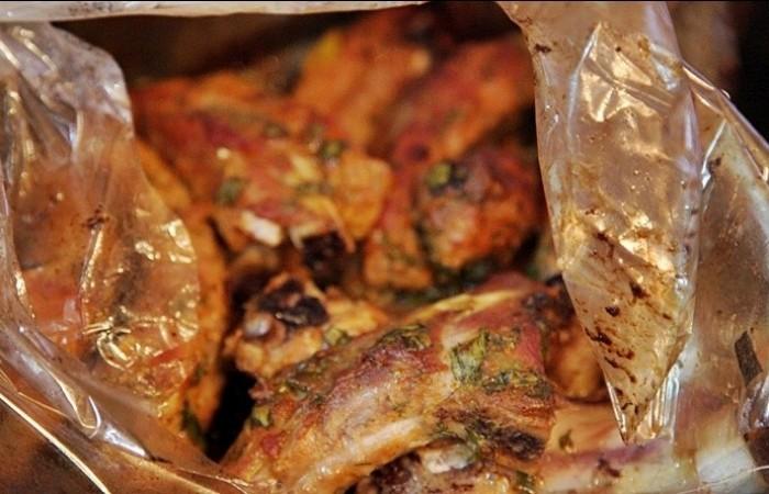 Свиные ребрышки запеченная в духовке с фото
