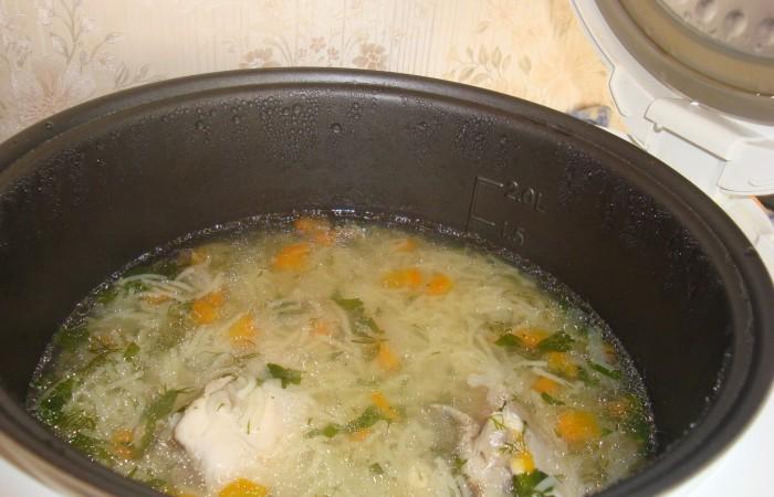Суп куриный с макаронами рецепт в мультиварке