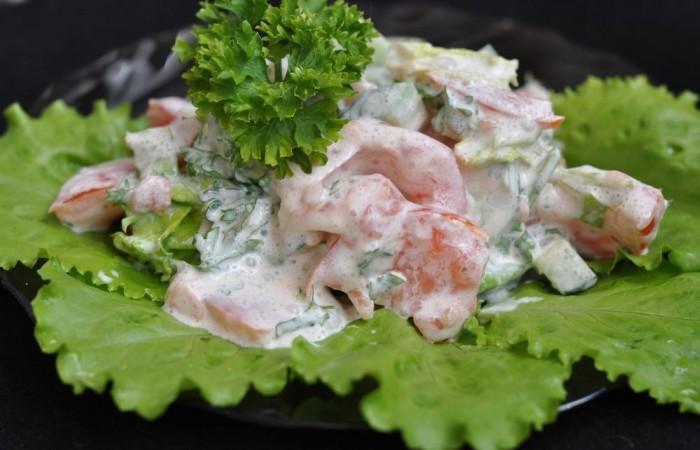 Салат из свежей капусты со сметаной рецепт с