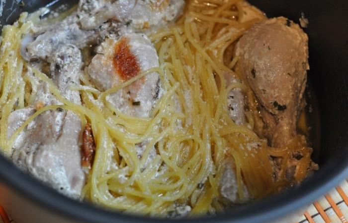 Курица со спагетти в мультиварке рецепты с фото