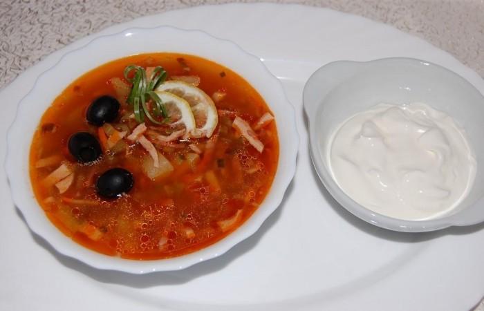 Солянка с копченостями рецепт с фото пошаговый рецепт