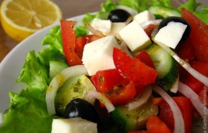 Греческий салат классический рецепт с фото пошагово