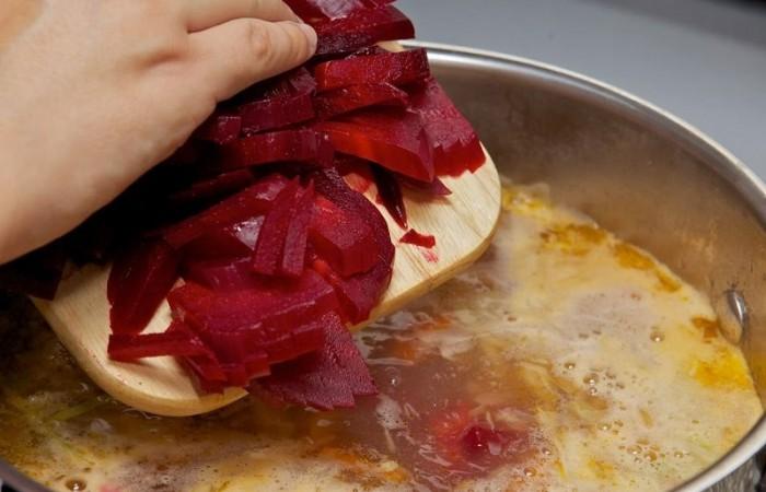 Борщ с томатной пастой пошаговый рецепт