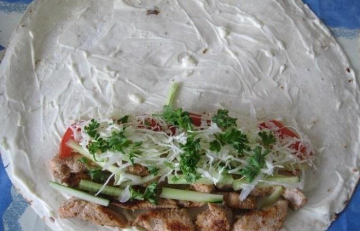 Рецепты шаурмы с курицей в домашних условиях с фото пошагово